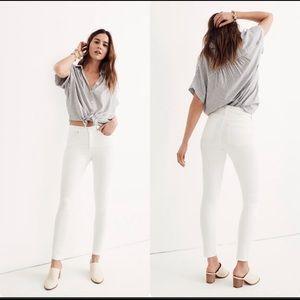 Madewell High Riser Skinny Skinny white Jeans NWT